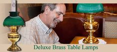 Deluxe Brass Table Lamps Beauty, Charm, and Grace