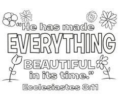 ecclesiastes 3 1 coloring pages - photo#7