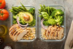 25 Healthy Chicken Meal Prep Recipes You'll Actually Enjoy Eating Meal Prep Guide, Easy Meal Prep, Healthy Meal Prep, Easy Meals, Healthy Recipes, Advocare Recipes, Healthy Lunches, Best Keto Meals, Vegetarian Meals