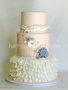 Blush & Ruffles Cake