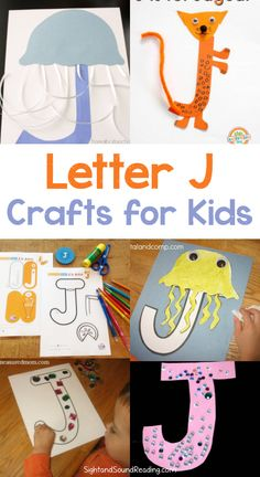 Letter J Crafts Letter J Crafts for preschool or kindergarten - Fun, easy and educational! Students will have fun learning and making these fun crafts! Letter J Activities, Preschool Letters, Kids Learning Activities, Toddler Activities, Preschool Activities, Fun Learning, Preschool Prep, Toddler Learning, Indoor Activities