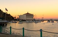 Casino in Avalon at sunset