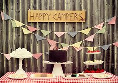CAKE. | events + design: real parties: happy little campers