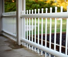 In our background I wanted to build a PVC fence that goes from post to post of a. - - In our background I wanted to build a PVC fence that goes from post to post of a patio. Originally, I build the fence out of wood.
