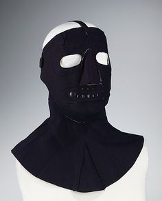 Ski mask, 1946. British. The Metropolitan Museum of Art, New York. Brooklyn Museum Costume Collection at The Metropolitan Museum of Art, Gift of the Brooklyn Museum, 2009; Anonymous gift, 1967 (2009.300.1328) #olympics #skiing