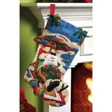 $19.12-$19.99 Bucilla felt applique stocking kit coolin it. Kit includes stamped felt, embroidery floss, beads, needles and trilingual instructions stocking is 18-inch.