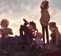 The Boys, Tweek, Craig, & Butters ~ hangin' out