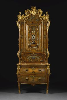A DANISH GILT-BRONZE MOUNTED CARVED GILTWOOD, TORTOISESHELL, BRASS, PEWTER, BONE AND FRUITWOOD INLAID MARQUETRY WALNUT BUREAU CABINET, ATTRIBUTED TO DIETRICH SCHAEFFER, CIRCA 1750 Milan Furniture, French Furniture, Antique Furniture, Danish Style, Marquetry, Objet D'art, Tortoise Shell, Pewter, Art Decor