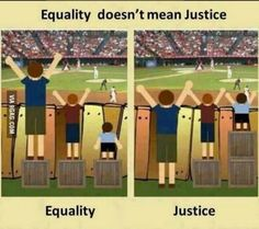 The difference between equality and justice