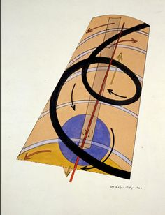 Bauhaus Series 00  László Moholy-Nagy, Kinetic constructive system, 1922, watercolor, ink, collage