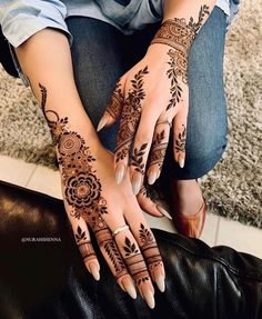 Pin For Trend Presented Amazing Backhand Arabic Mehandi Designs That You Must Try - Mehandi Designs 2019 - 2020 (Latest Mehandi Designs Images)