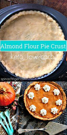Low Carb Pumpkin Pie, Almond Flour Pie Crust, Keto, 7 net carbs from spinach tiger