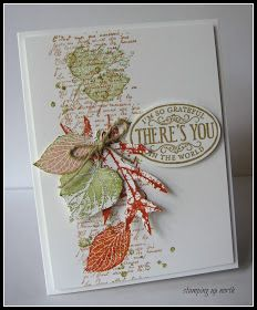 by Laurie, stamping up north: Less is More color challenge; French Foliage and Chalk Talk Fall Cards, Holiday Cards, Leaf Cards, Thanksgiving Cards, Card Making Inspiration, Halloween Cards, Card Tags, Stamping Up, Scrapbook Cards