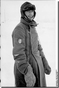 """The Nazis used french fascists - """"French Legion"""" soldier .A Frenchman in the Wehrmacht. Russia 1941"""