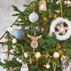 Déco de Noël étoile à suspendre en bois H 15 cm MOUMOUTE | Maisons du Monde