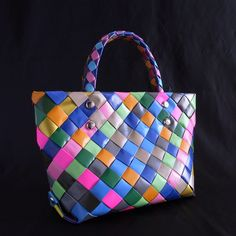 tote bag made from duct tape
