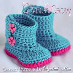 crochet boots | Booties Crochet Pattern for Baby Garden Boots - 4 sizes - Newborn to ...