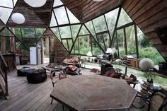 Geodesic dome houses….