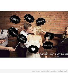 Comprar online pizarras con mensaje para photocall de boda 2