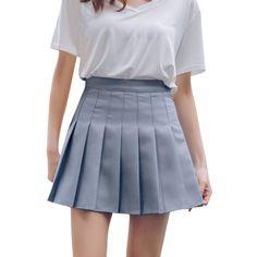 5d85b9e9e US $4.65 32% OFF|Women's Fashion High Waist Pleated Mini Skirt Slim Waist  Casual Tennis Skirt tutu women pleated skirt #0321-in Skirts from Women's  Clothing ...