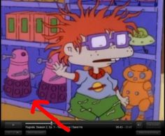 Daleks, and BTW, Tommy was based off the Doctor...and he always had his screwdriver. (The creators of Rugrats were huge fans)  Omg. Mind blown. The bow tie actually happened... @catie -- holy Shiz!