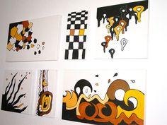 Coole Wandgestaltung auf Holzplatten für die junge Wohngemeinde und alle Afrika-Fans - die Inspiration kam von der Aktion Kunstraub im Mai/Juni 201...