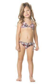 Agua Bendita Hypnotic Girls Bikini is the most beautiful bikini for your girly-girl! #girly #kidsbikini #designerkids