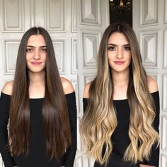 Clip In Hair Extensions Remy Human Hair 10 Pieces Balayage Ombre Color Blonde Blonde Highlights On Dark Hair, Dark Roots Blonde Hair, Brown Blonde Hair, Hair Color Balayage, Haircolor, Surf Hair, Box Braids Hairstyles, Beautiful Long Hair, Clip In Hair Extensions