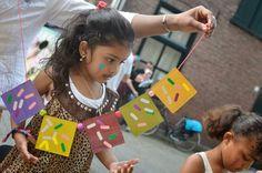 Workshop van de Bakfietsjuf bij kinderboekenweekfestival Knetters