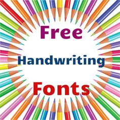 50 free handwriting fonts via The Shabby Creek Cottage Giampaolo @ Shabby Creek Cottage Cool Fonts, Fun Fonts, Creative Fonts, Script Fonts, Business Fonts, Free Handwriting, Police, Classroom Freebies, Clip Art