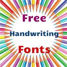 Free Handwriting Fonts!