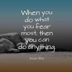 To overcome the greatest fear you have to go right to it then live it then come through it all. The greatest fear is not ever death all go that way. The greatest fear is the separation from GOD because people do not know what hell is really about!