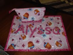 Alyssa's placemat and little bag