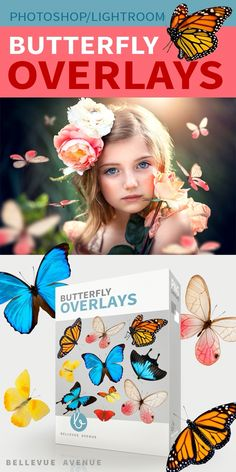 Bellevue Avenue | Butterfly Overlays    38 Beautiful Butterfly Overlays to add a magical touch to your photography. Easy to apply in Photoshop, Creative Cloud and Lightroom (with OnOne's Perfect Layer Plugin)    https://bellevue-avenue.com/product/butterfly-overlays/