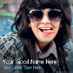 Get your name in beautiful style on Crazy Girl picture. You can write your name on beautiful collection of Girls pics. Personalize your name in a simple fast way. You will really enjoy it.