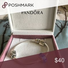 Pandora Charm In beautiful mint condition this Charm bracelet has only been worn once Pandora Jewelry Bracelets