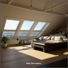 Incredible Makeover Design and Decorating Dreamy Attic Rooms Ideas - nyamanhome Attic Bedroom Designs, Attic Bedrooms, Attic Design, Loft Design, Design Design, Loft Flooring, Loft Room, A Frame House, Attic Spaces