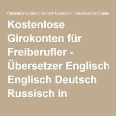 Kostenlose Girokonten für Freiberufler - Übersetzer Englisch Deutsch Russisch in Oldenburg bei Bremen | Miriam Neidhardt