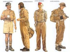 (Follow link for many more WWII uniforms)  United Kingdom - 1941 Jan., North Africa, Corporal, 6th Royal Tank Regiment United Kingdom - 1941 Nov., North Africa, Pilot, No. 112 Sqn, RAF United Kingdom - 1941 Oct., North Africa, Captain, 3rd King's Own Hussars United Kingdom - 1942 Mar., St Nazaire, Sergeant, No. 1 Commando