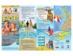 bruce-county-beaches-map by Explore The Bruce - Bruce County Tourism via Slideshare Family Trips, Family Travel, Lake Huron, Summer Ideas, Ontario, Beaches, Tourism, Boat, Explore