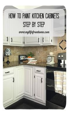 DIY: How I Painted My Kitchen Cabinets- kitchen- cabinet repainting- step by st. DIY: How I Painted My Kitchen Cabinets- kitchen- cabinet repainting- step by step instructions to repainting cabinets- white cabinets- DIY painting Repainting Cabinets, Refacing Kitchen Cabinets, White Kitchen Cabinets, Kitchen Paint, Kitchen Redo, Kitchen Ideas, Repainted Kitchen Cabinets, Diy Painting Kitchen Cabinets, Paint Cabinets Kitchen