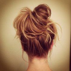 Messy bun created by my hair whisperer, Creighton Bowman! Love Hair, Gorgeous Hair, Messy Hairstyles, Pretty Hairstyles, Hair Affair, Hair Day, Hair Hacks, Her Hair, Hair Inspiration