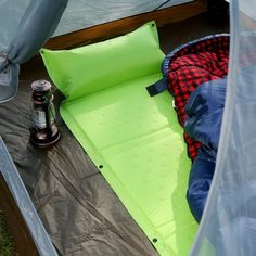 And a self-inflating sleeping pad.   30 Insanely Useful Camping Products You'll Wish You Knew About Sooner