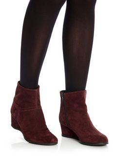 TLC Burgundy Wide Fit Wedge Boot, £55