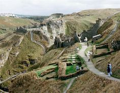 Tintagel Castle on the clifftops outside the small town is owned by the Duchy of Cornwall and managed by English Heritage. In legend it was King Arthur's Castle fortress and was believed to have been constructed around Cornwall Coast, Cornwall England, King Arthur's Castle, British Things, Castle Ruins, English Heritage, Travel News, Ancient History, The Guardian