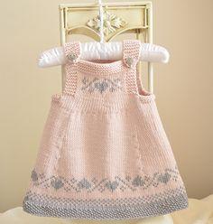 Luv U Forever Pinafore Dress - Baby Knitting pattern by OGE Knitwear Design. Baby Knitting Patterns, Knitting For Kids, Knitting Charts, Crochet Patterns, Crochet Ideas, Sewing Patterns, Crochet Baby, Knit Crochet, Knitted Baby