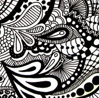 Paisley Zentangle Doodle Drawing by KathyAhrens