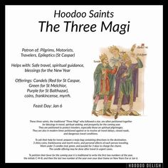 Hoodoo Saints - The Three Magi Wiccan Spells, Hoodoo Spells, Magic Spells, Witchcraft