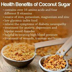 Health Benefits of Coconut Sugar <3