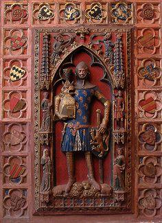 Günther von Schwarzburg, 1349, Saint Bartholomeus' Cathedral, Frankfurt, Hesse, Germany -- See also at: http://effigiesandbrasses.com/